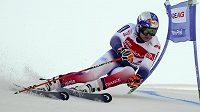 Francouz Alexis Pinturault v Hinterstoderu na trati obřího slalomu.