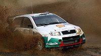 Jan Kopecký se Škodou Fabia WRC během Německé rallye 2007, kde vybojoval nejlepší výsledek vozu v mistrovství světa.