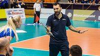 Trenér ženské volejbalové reprezentace Giannis Athanasoupoulos.