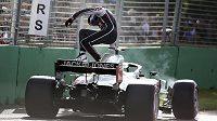 Pilot stáje Haas Romain Grosjean v Melbourne
