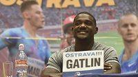 Americký sprinter Justin Gatlin zářil před mítinkem Zlatá tretra dobrou náladou.