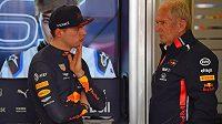 Max Verstappen a Helmut Marko.
