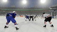 Duel hokejistů Kanady proti USA na MS do 20 let provázelo husté sněžení.