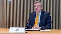 Předseda MOV Thomas Bach na jednání výkonného výboru v Lausanne.