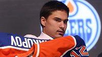 Ruský hokejový útočník Nail Jakupov, jehož si v roce 2012 vybral jako jedničku draftu NHL Edmonton.
