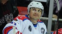 Sergej Fjodorov při exhibičním utkání.