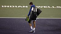 Srbský tenista Novak Djokovič na loňském turnaji v Indian Wells - ilustrační foto.