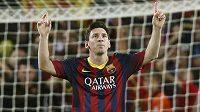 Argentinský útočník Lionel Messi se proti AC Milán prosadil z penalty.