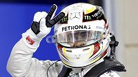 Lewis Hamilton vyhrál v Bahrajnu kvalifikaci.