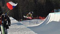 Česká snowboardistka Šárka Pančochová při kvalifikaci závodu v U-rampě na MS v Kreichsbergu.