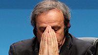 Prezident UEFA Michel Platini.