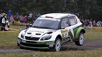 Jan Kopecký na trati Barum rallye 2012.