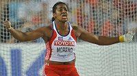 Kubánská kladivářka Yipsy Morenová na loňském světovém šampionátu v Tegu