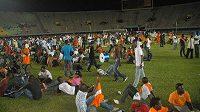 Stadión v senegalském Dakaru, kde se kvůli rozbouřeným fanouškům nedohrál zápas s Pobřežím slonoviny.