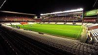 Stadion San Mamés ve španělském Bilbau před utkáním Evropské ligy se Spartou.
