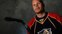 Olli Jokinen v dresu Floridy, za tento klub odehrál nejvíce zápasů v NHL.