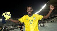 Alexander Isak v dresu švédské reprezentace