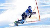 Ester Ledecká při kvalifikaci paralelního obřího slalomu v Bad Gasteinu.