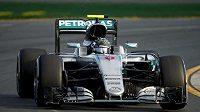 Německý pilot Nico Rosberg během Velké ceny Austrálie, ve které nakonec zvítězil.