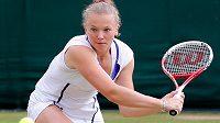 Česká juniorka Kateřina Siniaková (na snímku) na letošním Wimbledonu vyhrála s Barborou Krejčíkovou čtyřhru.