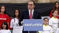 Jordánský princ Alí bin Husajn oznamuje oficiální kandidaturu na post šéfa FIFA.