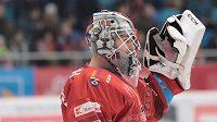 Hokejový brankář Marek Mazanec.