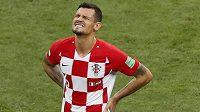 Dejan Lovren byl po finálovém zápase s Francií hodně zklamaný