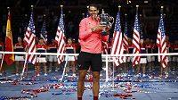 Vítěz US Open 2017 Španěl Rafael Nadal.