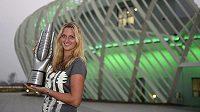 Vítězka tenisového turnaje okruhu WTA v čínském Wu-chanu Petra Kvitová.