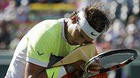 Rafael Nadal v utkání proti Fernandu Verdascovi na turnaji Masters v Miami.