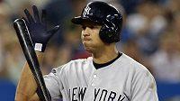 Hvězdný baseballista New Yorku Yankees Alex Rodriguez.
