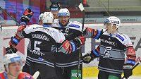 Gólová radost hokejistů Energie Karlovy Vary.