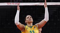 Brazilská volejbalistka Tandara Caixetaová