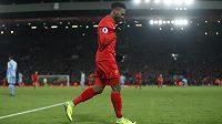 Liverpoolský Daniel Sturridge oslavuje gól proti Stoke City.