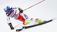 Kryštof Krýzl při prvním kole obřího slalomu ve Svatém Mořici.