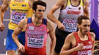 Půlkař Filip šnejdr v semifinále halového mistrovství Evropy v Glasgow.