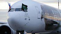 Letadlo s fotbalisty Saúdské Arábie - ilustrační foto.