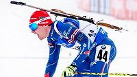 Michal Krčmář v cíli sprintu mužů v Pokljuce.