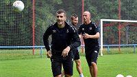 Teplický záložník Admir Ljevakovič (vpředu) během přípravy na novou sezónu.
