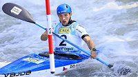 Jiří Prskavec na mistrovství světa ve vodním slalomu ve španělském La Seu d´Urgell.