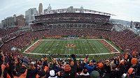 Stadión Paula Browna v Cincinnati při utkání amerického fotbalu.