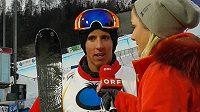Akrobatický lyžař Robin Holub v rozhovoru pro rakouskou televizi.