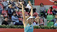 Česká tenistka Karolína Plíšková slaví vítězství na turnaji v Soulu.