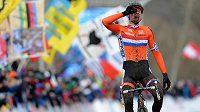 Nizozemský cyklokrosař Mathieu van der Poel vybojoval na MS v Táboře zlatou medaili v kategorii elite.