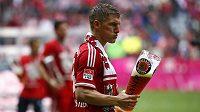 Bastian Schweinsteiger slavil po svém - s tuplákem piva.