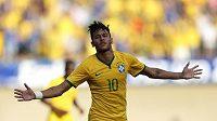 Neymar se proti Panamě v přípravě na MS zapsal mezi brazilské střelce.