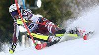 Švédka Estelle Alphandová v 1. kole slalomu v Záhřebu.
