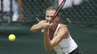 Petra Kvitová při tréninku na Wimbledon.
