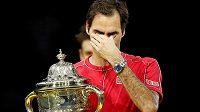 Fenomenální Roger Federer desátý triumf na turnaji v rodné Basileji oplakal.
