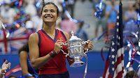 Britská tenistka Emma Raducanuová - vítězka US Open 2021.